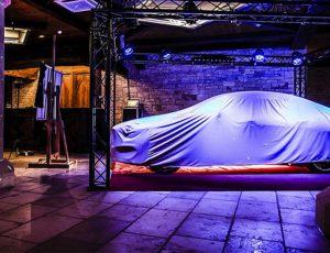 eclairage pour lancement d'une nouvelle auto